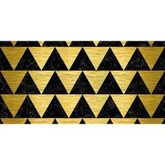 Triangle2 Black Marble & Gold Brushed Metal You Are Invited 3d Greeting Card (8x4) by trendistuff