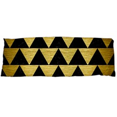 Triangle2 Black Marble & Gold Brushed Metal Body Pillow Case Dakimakura (two Sides)