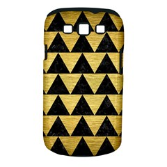 Triangle2 Black Marble & Gold Brushed Metal Samsung Galaxy S Iii Classic Hardshell Case (pc+silicone) by trendistuff