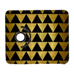 Triangle2 Black Marble & Gold Brushed Metal Samsung Galaxy S  Iii Flip 360 Case by trendistuff