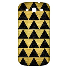 Triangle2 Black Marble & Gold Brushed Metal Samsung Galaxy S3 S Iii Classic Hardshell Back Case by trendistuff