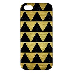 Triangle2 Black Marble & Gold Brushed Metal Iphone 5s/ Se Premium Hardshell Case by trendistuff