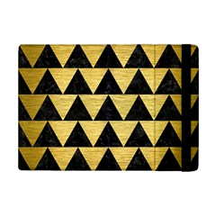 Triangle2 Black Marble & Gold Brushed Metal Apple Ipad Mini 2 Flip Case by trendistuff