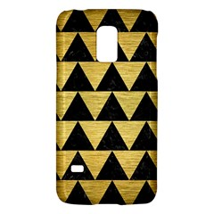 Triangle2 Black Marble & Gold Brushed Metal Samsung Galaxy S5 Mini Hardshell Case  by trendistuff