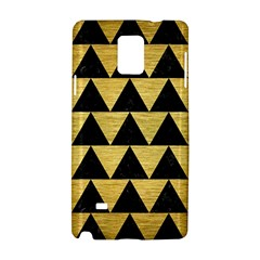 Triangle2 Black Marble & Gold Brushed Metal Samsung Galaxy Note 4 Hardshell Case by trendistuff
