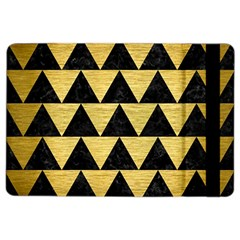 Triangle2 Black Marble & Gold Brushed Metal Apple Ipad Air 2 Flip Case by trendistuff