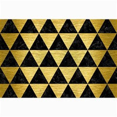 Triangle3 Black Marble & Gold Brushed Metal Collage 12  X 18  by trendistuff