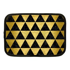 Triangle3 Black Marble & Gold Brushed Metal Netbook Case (medium) by trendistuff