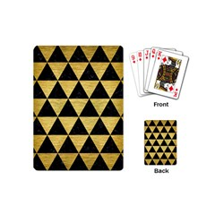 Triangle3 Black Marble & Gold Brushed Metal Playing Cards (mini) by trendistuff