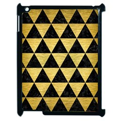 Triangle3 Black Marble & Gold Brushed Metal Apple Ipad 2 Case (black) by trendistuff