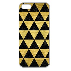 Triangle3 Black Marble & Gold Brushed Metal Apple Seamless Iphone 5 Case (clear) by trendistuff