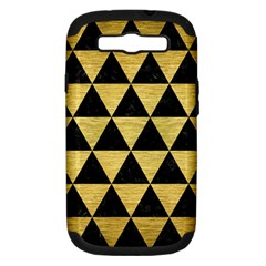 Triangle3 Black Marble & Gold Brushed Metal Samsung Galaxy S Iii Hardshell Case (pc+silicone) by trendistuff