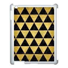 Triangle3 Black Marble & Gold Brushed Metal Apple Ipad 3/4 Case (white) by trendistuff