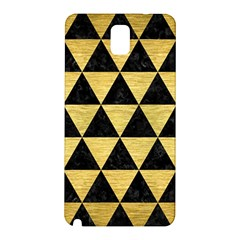Triangle3 Black Marble & Gold Brushed Metal Samsung Galaxy Note 3 N9005 Hardshell Back Case by trendistuff