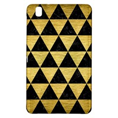 Triangle3 Black Marble & Gold Brushed Metal Samsung Galaxy Tab Pro 8 4 Hardshell Case by trendistuff