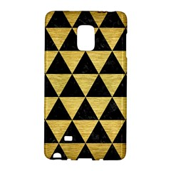 Triangle3 Black Marble & Gold Brushed Metal Samsung Galaxy Note Edge Hardshell Case by trendistuff