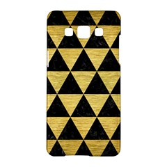 Triangle3 Black Marble & Gold Brushed Metal Samsung Galaxy A5 Hardshell Case