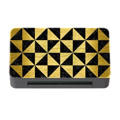 Triangle1 Black Marble & Gold Brushed Metal Memory Card Reader With Cf by trendistuff