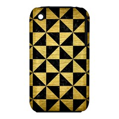 Triangle1 Black Marble & Gold Brushed Metal Apple Iphone 3g/3gs Hardshell Case (pc+silicone) by trendistuff