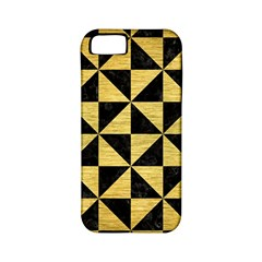 Triangle1 Black Marble & Gold Brushed Metal Apple Iphone 5 Classic Hardshell Case (pc+silicone) by trendistuff