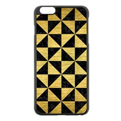 Triangle1 Black Marble & Gold Brushed Metal Apple Iphone 6 Plus/6s Plus Black Enamel Case