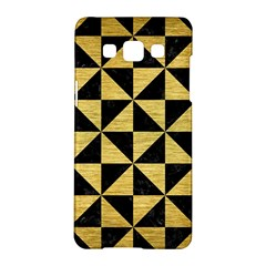 Triangle1 Black Marble & Gold Brushed Metal Samsung Galaxy A5 Hardshell Case  by trendistuff
