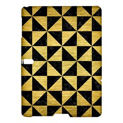 Triangle1 Black Marble & Gold Brushed Metal Samsung Galaxy Tab S (10 5 ) Hardshell Case  by trendistuff