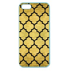 Tile1 Black Marble & Gold Brushed Metal (r) Apple Seamless Iphone 5 Case (color) by trendistuff