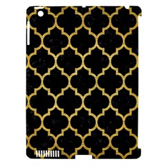 Tile1 Black Marble & Gold Brushed Metal Apple Ipad 3/4 Hardshell Case (compatible With Smart Cover) by trendistuff