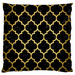Tile1 Black Marble & Gold Brushed Metal Large Cushion Case (two Sides) by trendistuff