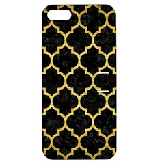 Tile1 Black Marble & Gold Brushed Metal Apple Iphone 5 Hardshell Case With Stand by trendistuff