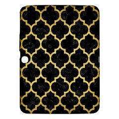 Tile1 Black Marble & Gold Brushed Metal Samsung Galaxy Tab 3 (10 1 ) P5200 Hardshell Case  by trendistuff