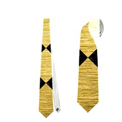 Square2 Black Marble & Gold Brushed Metal Necktie (two Side) by trendistuff