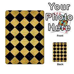 Square2 Black Marble & Gold Brushed Metal Multi Purpose Cards (rectangle) by trendistuff