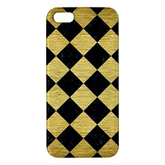 Square2 Black Marble & Gold Brushed Metal Iphone 5s/ Se Premium Hardshell Case by trendistuff