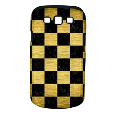 Square1 Black Marble & Gold Brushed Metal Samsung Galaxy S Iii Classic Hardshell Case (pc+silicone) by trendistuff