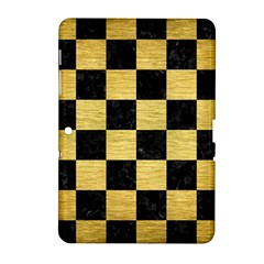 Square1 Black Marble & Gold Brushed Metal Samsung Galaxy Tab 2 (10 1 ) P5100 Hardshell Case  by trendistuff