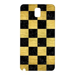 Square1 Black Marble & Gold Brushed Metal Samsung Galaxy Note 3 N9005 Hardshell Back Case by trendistuff