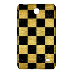 Square1 Black Marble & Gold Brushed Metal Samsung Galaxy Tab 4 (8 ) Hardshell Case  by trendistuff