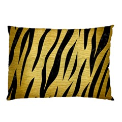Skin3 Black Marble & Gold Brushed Metal (r) Pillow Case by trendistuff