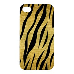 Skin3 Black Marble & Gold Brushed Metal (r) Apple Iphone 4/4s Premium Hardshell Case by trendistuff