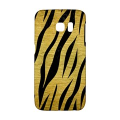 Skin3 Black Marble & Gold Brushed Metal (r) Samsung Galaxy S6 Edge Hardshell Case