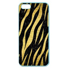 Skin3 Black Marble & Gold Brushed Metal Apple Seamless Iphone 5 Case (color) by trendistuff