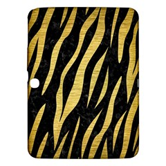 Skin3 Black Marble & Gold Brushed Metal Samsung Galaxy Tab 3 (10 1 ) P5200 Hardshell Case  by trendistuff