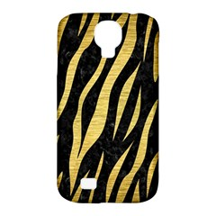 Skin3 Black Marble & Gold Brushed Metal Samsung Galaxy S4 Classic Hardshell Case (pc+silicone) by trendistuff