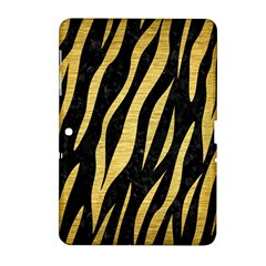 Skin3 Black Marble & Gold Brushed Metal Samsung Galaxy Tab 2 (10 1 ) P5100 Hardshell Case  by trendistuff
