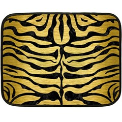 SKIN2 BLACK MARBLE & GOLD BRUSHED METAL (R) Double Sided Fleece Blanket (Mini)