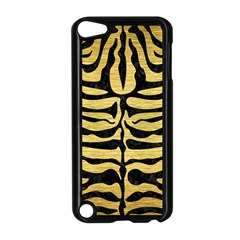 SKIN2 BLACK MARBLE & GOLD BRUSHED METAL (R) Apple iPod Touch 5 Case (Black)