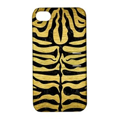 SKIN2 BLACK MARBLE & GOLD BRUSHED METAL (R) Apple iPhone 4/4S Hardshell Case with Stand