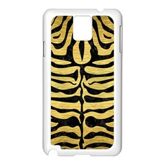 SKIN2 BLACK MARBLE & GOLD BRUSHED METAL (R) Samsung Galaxy Note 3 N9005 Case (White)